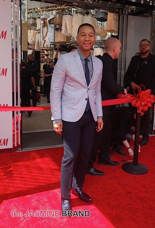 Grand Opening of H&M Herard Square with Ribbon Cutting by John Legend