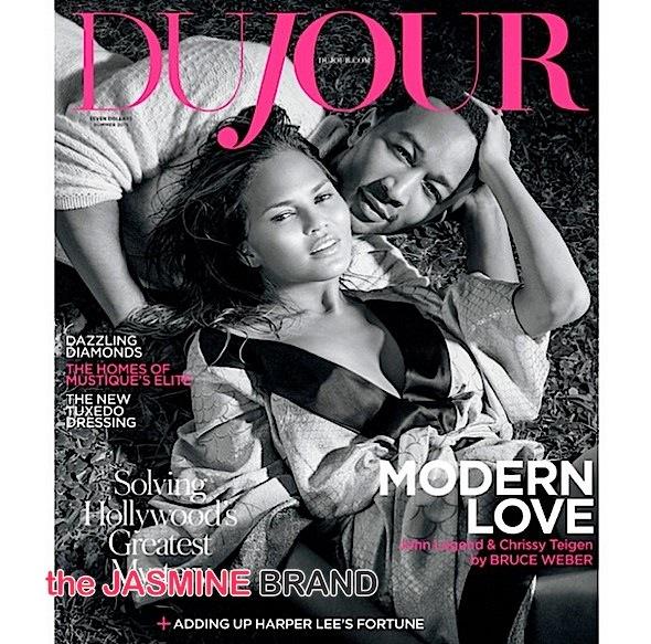 Couple Cuteness: Chrissy Teigen & John Legend Cover 'DuJour' + Teigen Poses Nude! [Photos]