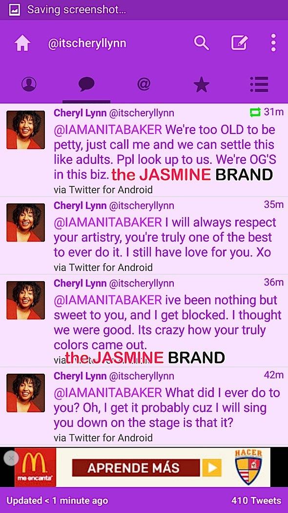cheryl lynn slams anita baker on twitter 2-the jasmine brand