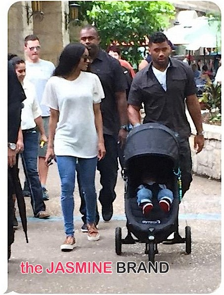 Family Time! Ciara & Russell Wilson Step Out With Baby Future [Photos]