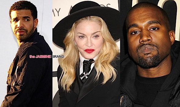 Kanye Changes Album Title, Madonna Talks Tongue-Swapping With Drake + Drizzy Opens Club in Toronto