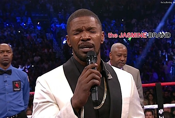 Jamie Foxx Performs National Anthem at Mayweather vs Pacquiao Fight [WATCH]