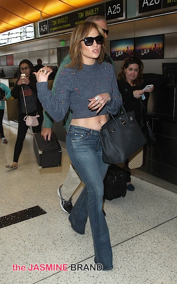 Jennifer Lopez Sighted Arriving at LAX Airport on May 26, 2015