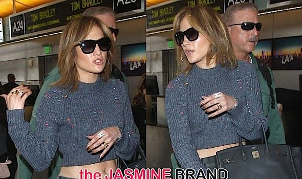 J.Lo Hit With Glitter-Bomb At LAX [Photos]