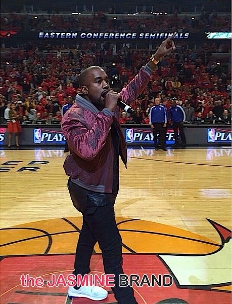 """Kanye West Performs """"All Day"""" During Cavaliers vs Bulls Game [VIDEO]"""