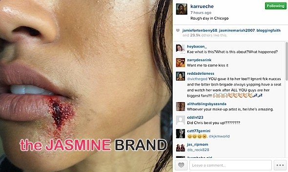 karrueche films-bloody lip-the jasmine brand