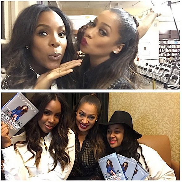kelly rowland-angie beyince-at lala anthony book signing-the power playbook-the jasmine brand