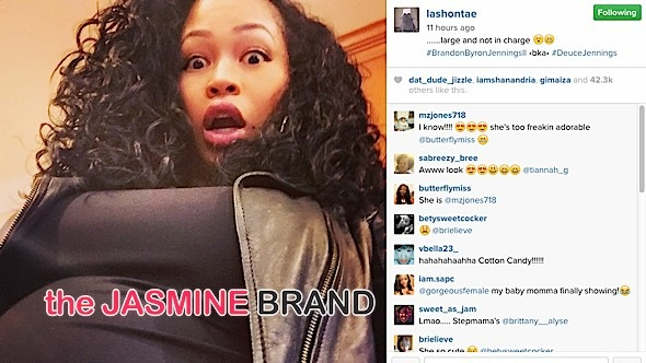 lashontae heckard-confirms pregnancy-brandon jennings-the jasmine brand
