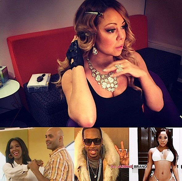 mariah carey-kenya moore james freeman-safaree samuels-kmichelle-the jasmine brand