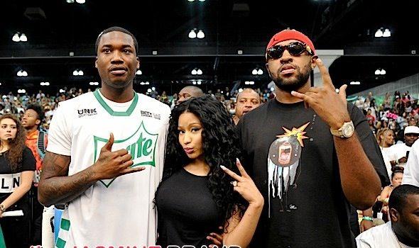 Chris Brown, French Montana, Meek Mill, Nicki Minaj Spotted at Celebrity Basketball Game [Photos]