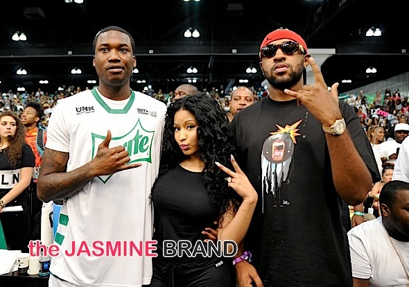 Chris Brown, French Montana, Meek Mill, Nicki Minaj Spotted at Celebrity Basketball Game [Photos]