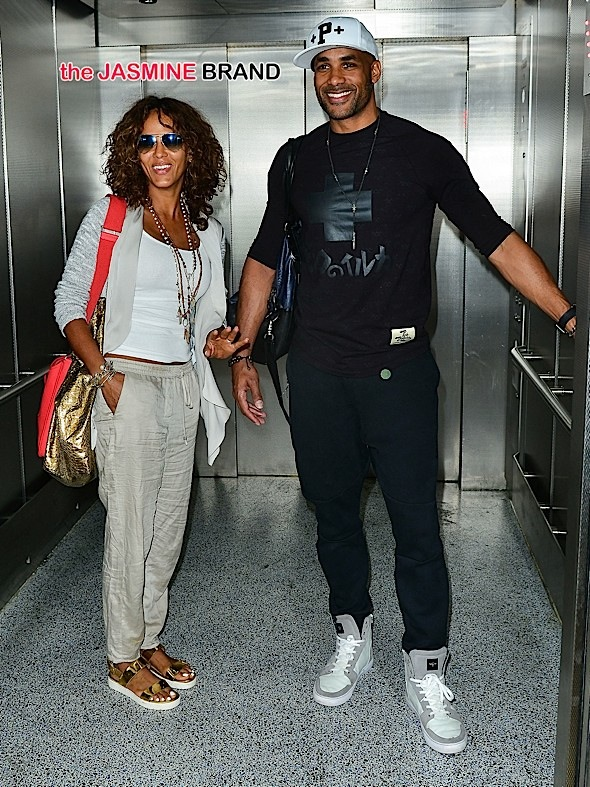 Boris Kodjoe and wife Nicole Ari Parker seen at LAX Airport