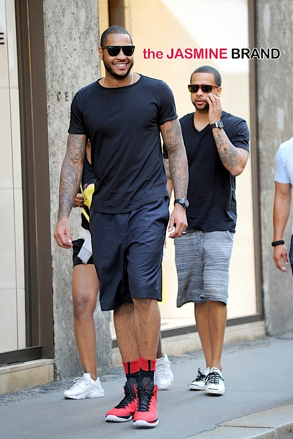 INF - Carmelo Anthony Shopping in Milan