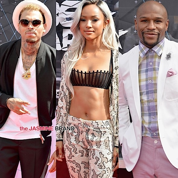 Chris Brown, Karrueche Tran, Floyd Mayweather