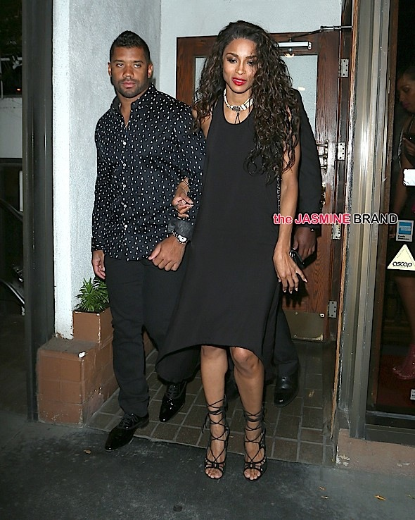 Ciara and Russell wilson Hold Hands at Madeos