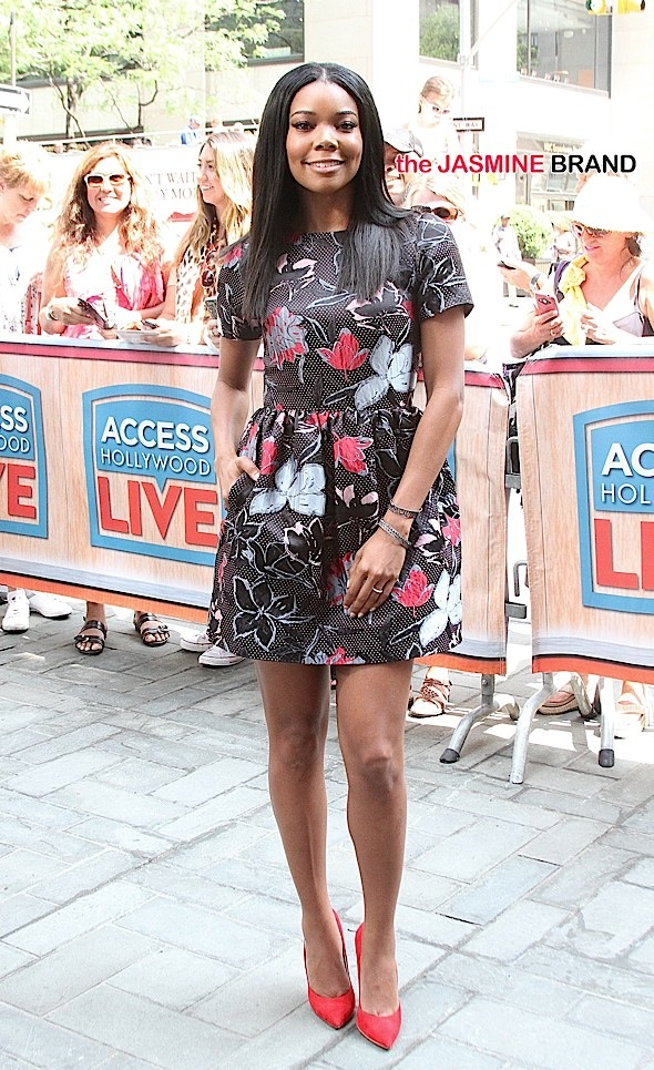 Gabrielle Union visits 'Access Hollywood Live' on location in NYC's Rockefeller Plaza