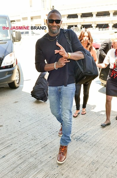 INF - Idris Elba Flies Out of LAX