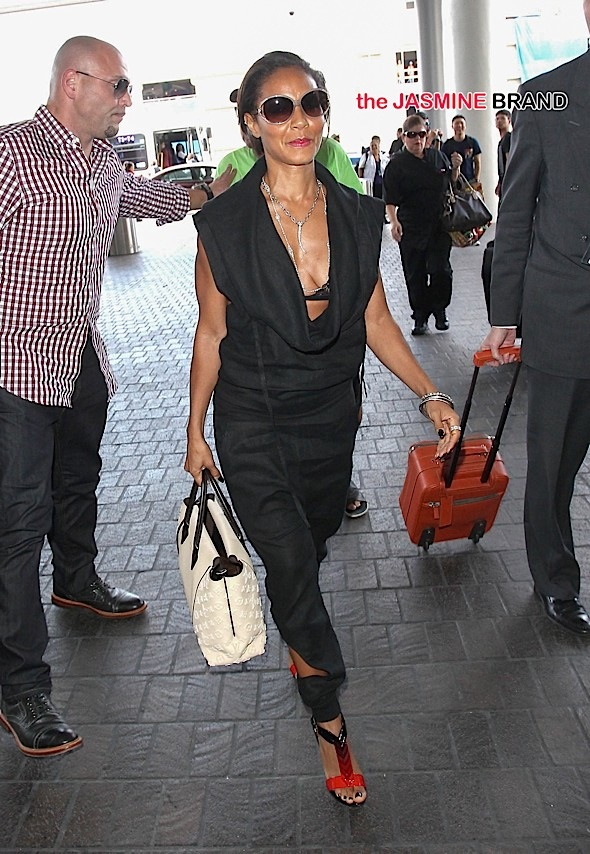 Jada Pinkett Smith Sighted at LAX Airport on June 26, 2015
