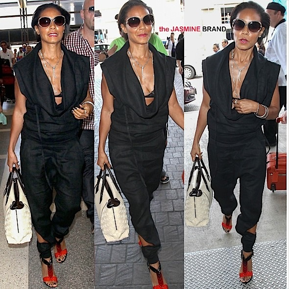 Spotted. Stalked. Scene. Jada Pinkett-Smith At LAX [Photos]