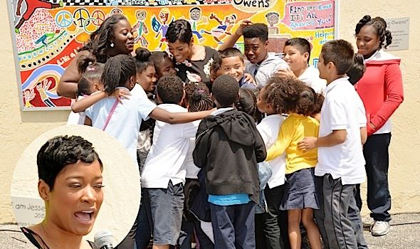 Keke Palmer Unveils the Jesse Owens Mural at Warren Lane Elementary School in Inglewood [Photos]