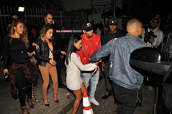Karrueche Tran at Playhouse night club with her ex Chris Brown