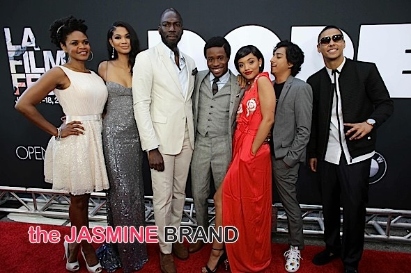 Kimberly Elise, Chanel Iman, Rick Famuyiwa, Shameik Moore, Kiersey Clemons, Tony Revolori, Quincy Brown at the 'Dope' premiere