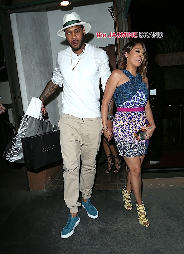 Lala Anthony and Carmelo Anthony Have Dinner at Madeos