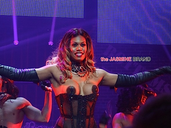 "Laverne Cox gets sexy at ""Broadway Bares"" with Judith Light, Andy Cohen and more in New York City, NY"