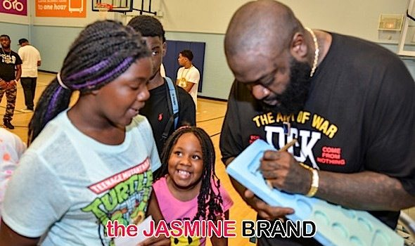 Rick Ross Visits The Harland Boys & Girls Club [Photos]