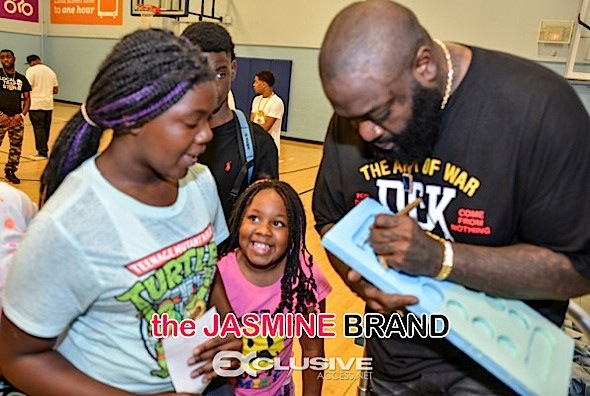 Rick Ross Visits the boys and girls club exlusiveaccess.net