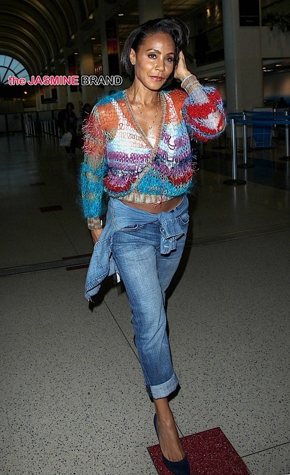 8a0aa563913 Jada Pinkett-Smith Spotted At LAX + Recalls Fall-Out With 2Pac: He ...