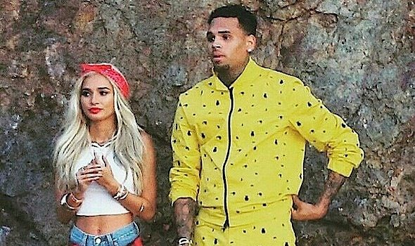 Chris Brown & Pia Mia Shoot 'Do It Again' Video [Spotted. Stalked. Scene.]