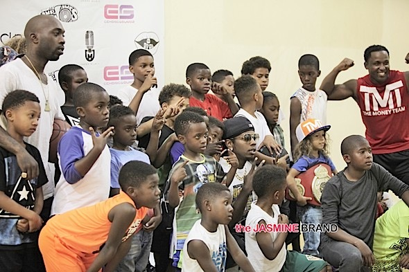 Trinidad James Stevie Williams with the Kids