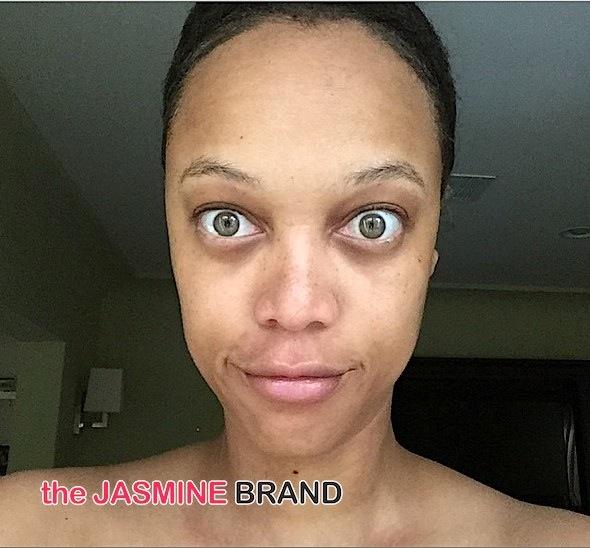Tyra Banks Posts No Make Up Photo-the jasmine brand