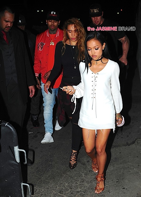 Chris Brown and Karueche Tran reunite at Club Playhouse in Hollywood, CA