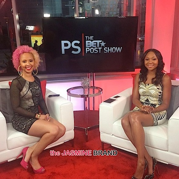 [Personal Post] Jasmine Brand Appears On BET's 'P.S. The BET Post Show' With Meagan Good & Host Amberia Allen