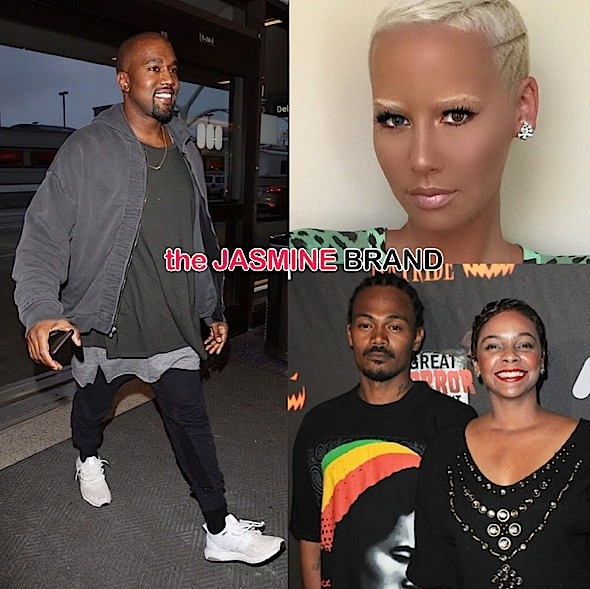 Awkward Much? Kanye West & Amber Rose Accidentally Pop Up At the Same Party + Lark Voorhies' Husband Alleged Gang Member [VIDEO]