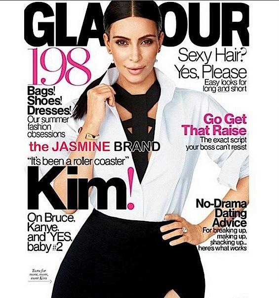 kim kardashian-glamour cover-the jasmine brand