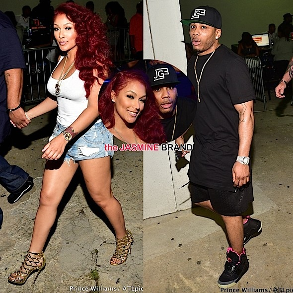 Celebrity Couple Nelly & Shantel Jackson Party At ATL's Compound [Photos]