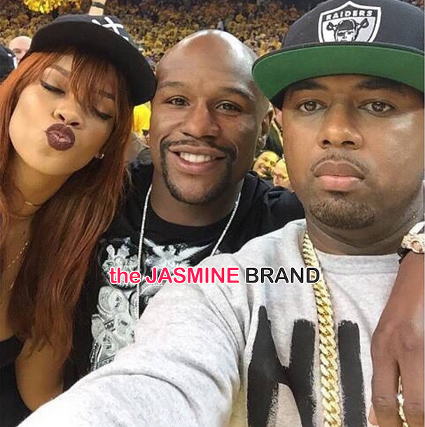 rihanna-floyd mayweather-nba finals game-the jasmine brand