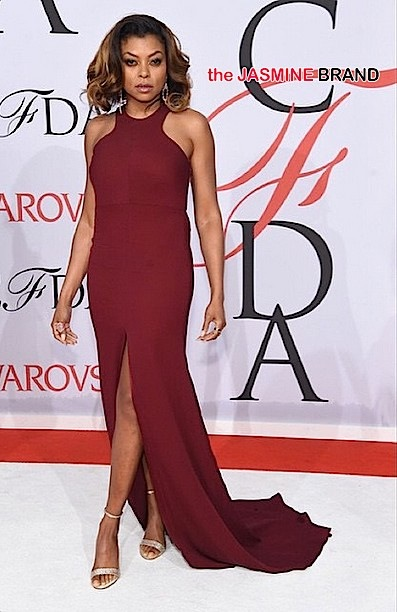 Taraji P. Henson wearing Vera Wang's Vera Wang Collection