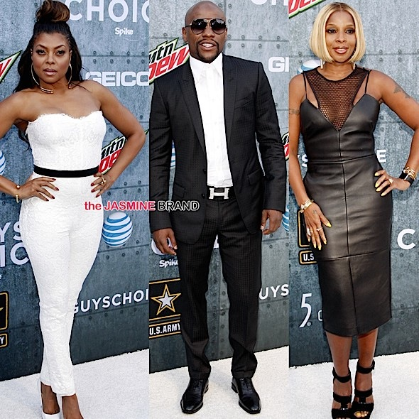 Floyd Mayweather, Taraji P. Henson, Terrence Howard, Mary J. Blige Attend Spike TV's Guy Choice [Photos]