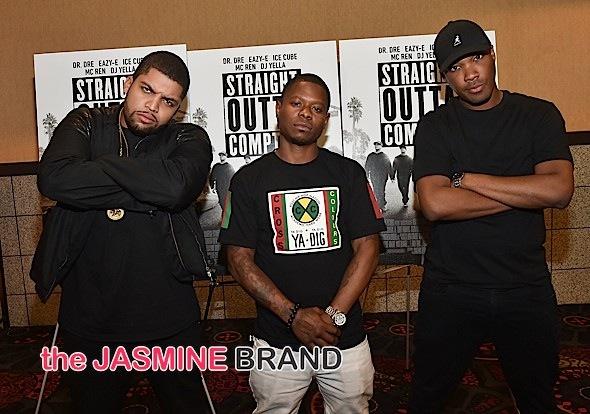 "O'Shea Jackson Jr., Jason Mitchell, and Corey Hawkins attend ""Straight Outta Compton"" VIP Screening"