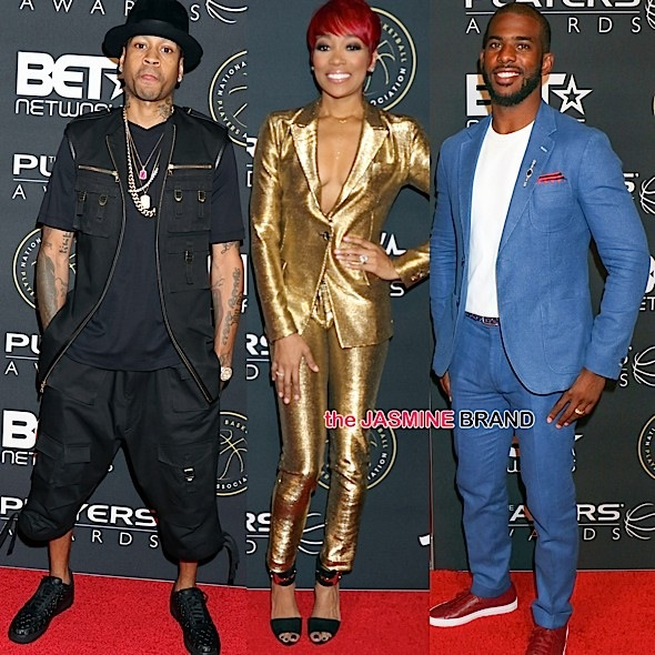 "BET's 1st Annual ""Players' Awards"": Allen Iverson & Wife Tawanna, Monica, Chris Paul & Wife Jada, Naturi Naughton, Jesse Williams, Paul Pierce, 2 Chainz, MC Lyte [Photos]"
