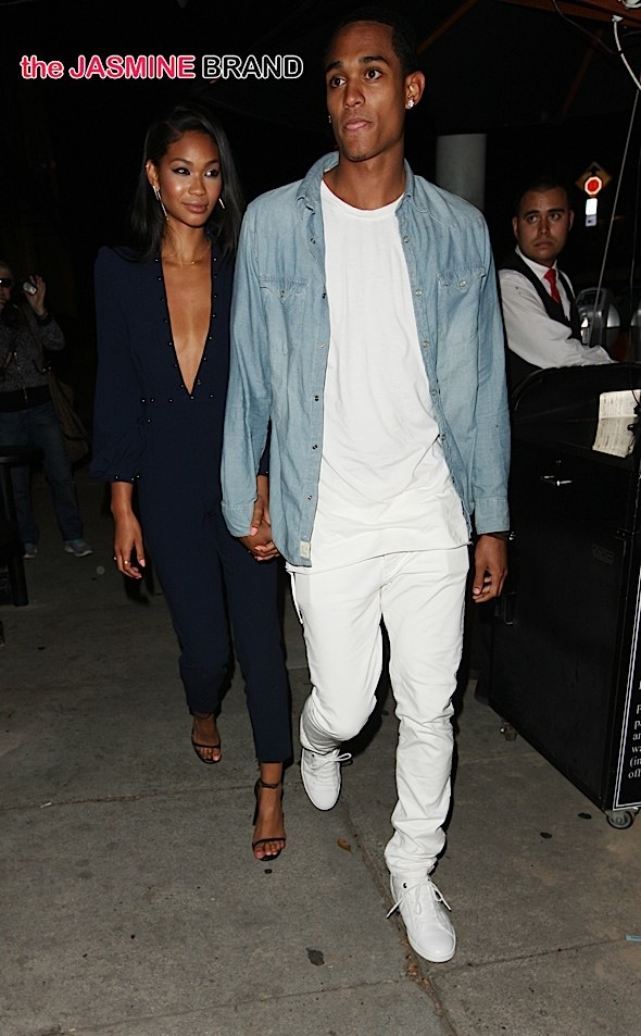 Chanel Iman and Jordan Clarkson go to Craig's for dinner