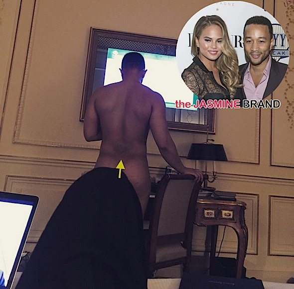 Chrissy Teigen Posts John Legend's Butt Cheeks [Photos]
