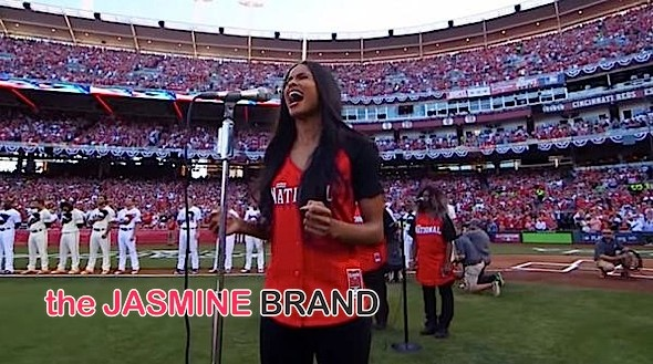 Ciara Belts Out the National Anthem at 2015 MLB All-Star Game [VIDEO]