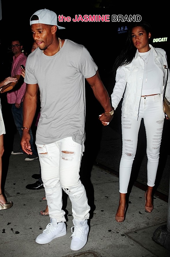 Karrueche Tran & Victor Cruz Spotted On Date