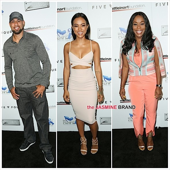 Celebrities Bowl For Charity: Karrueche Tran, Quad Webb-Lunceford, Kendra Wilkinson, Hank Baskett, Mo McRae Attend [Photos]