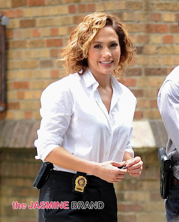 "Jennifer Lopez Sighted on the Set of ""Shades of Blue"" in New York City on July 8, 2015"